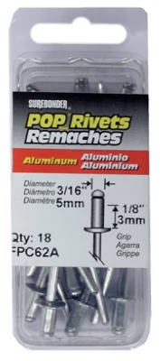 18-Pack Short Aluminum Rivet