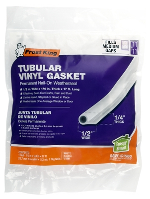 Tubular Vinyl Gasket, .5 x .25-In. x 17-Ft.