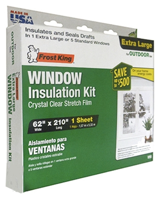 Outdoor Window Film Insulation Kit, 62 x 210-In.