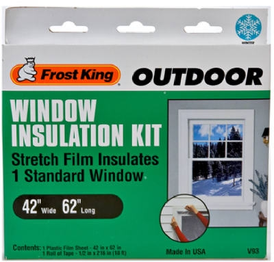 Outdoor Window Film Insulation Kit, 42 x 62-In.