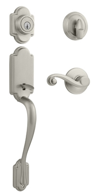 Signature Series Arlington Handleset, With SmartKey, Satin Nickel