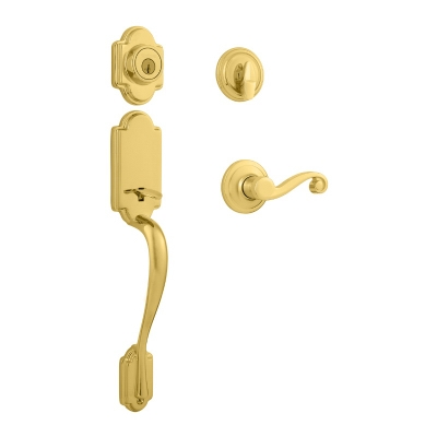 Signature Series Arlington Handleset, With SmartKey, Polished Brass