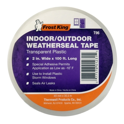 Clear Plastic Weatherseal Tape, 2 x 100-Ft.