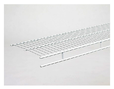 Wardrobe Wire Shelf, White, 12-In. x 12-Ft., Must Purchase in Quantities of 6
