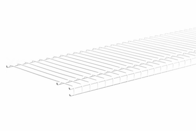 Superslide Wire Shelf, White, 12-In. x 12-Ft., Must Purchase in Quantities of 6
