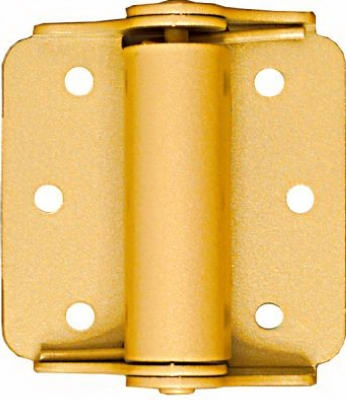 Spring Hinge, Brass, 3-In., 2-Pk.