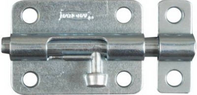 Door Barrel Bolt, Zinc, 3-In.