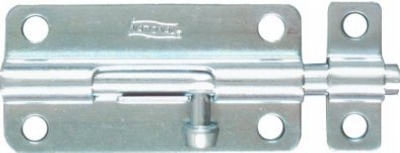 Door Barrel Bolt, Zinc, 4-In.
