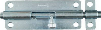 Door Barrel Bolt, Zinc, 5-In.