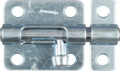 Door Barrel Bolt, Zinc, 2-1/2-In.