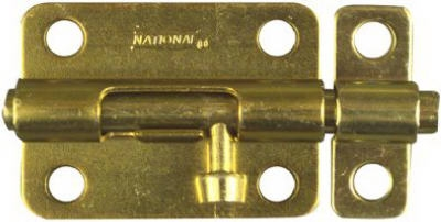 Door Barrel Bolt, Dull Brass, 3-In.