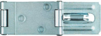 Double Hinge Safety Hasp, Zinc, 4.5-In.