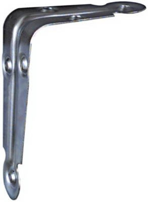 Shelf Bracket, Electro Galvanized, 3 x 4-In., Must Purchase in Quantities of 10