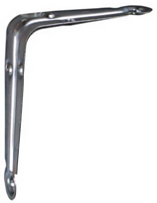 Shelf Bracket, Electro Galvanized, 4 x 5-In., Must Purchase in Quantities of 10