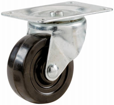 2-1/2-Inch Rubber Swivel Plate Caster