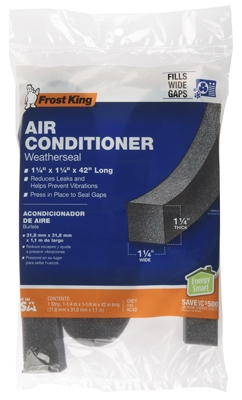 Air Conditioner Foam Weather Seal, 1.25 x 1.25 x 42-In.