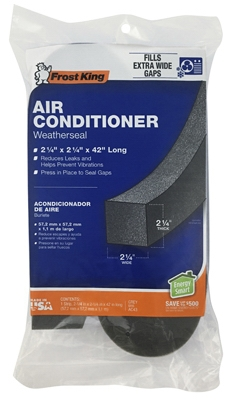 Air Conditioner Foam Weather Seal, 2.25 x 2.25 x 42-In.