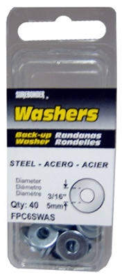 40-Pack 3/16-Inch Diameter Steel Washer