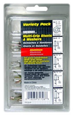92-Pack Multi Grip Rivets & Washers