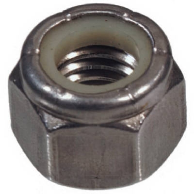 Nylon Insert Lock Nut, Stainless Steel, Coarse Thread, 50-Pk., 0.25-20