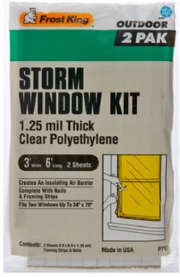Outdoor Storm Window Kit, 3 x 6-Ft., 2-Pack