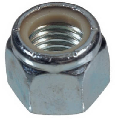 Nylon Insert Lock Nut, Zinc Plated Steel, Coarse Thread, 100-Pk., 0.375-16