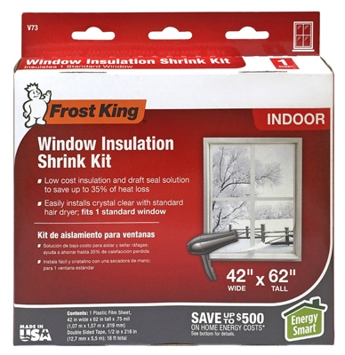 Window Insulation Kit, 42 x 62-In.