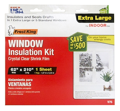 Window Insulation Kit for Extra-Large Window, 62 x 210-In.