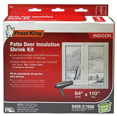 Insulation Kit for Patio Door or Large Window, 84 x 110-In.