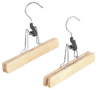 2-Pack Natural Wood Slacks Hangers