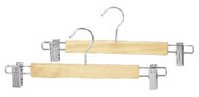 2-Pack Natural Wood Skirt Hangers