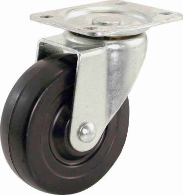 4-Inch Rubber Swivel Plate Caster