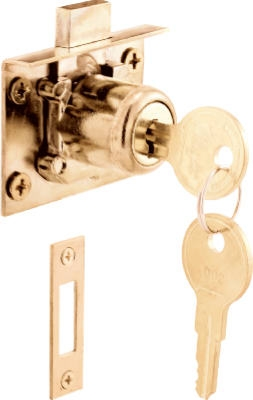 7/8-Inch Brass Drawer/ Cabinet Lock