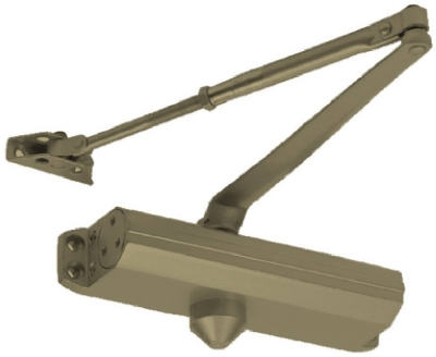 Commercial Door Closer, Duro Finish, Adjustable Size 1-4