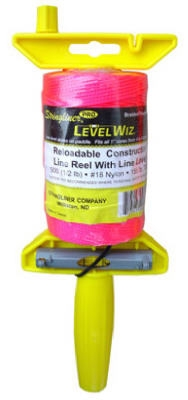 500-Ft. Braided Fluorescent Pink Nylon LevelWiz Reel