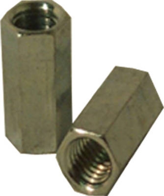Coupling Nut, Zinc-Plated Steel, #10-24