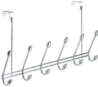 Orbinni Over-The-Door 6-Hook Rack, Chrome