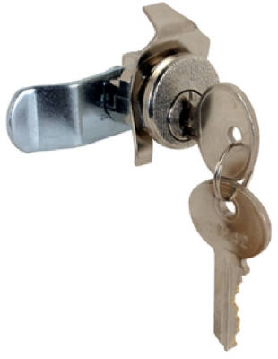 Mailbox Replacement Lock For Bommer With 2 Keys, Nickel Finish