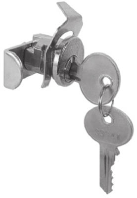 Mailbox Replacement Lock For Jensen General With 2 Keys, Nickel Finish