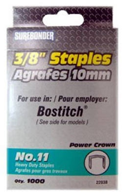 1000-Pack #11 Heavy-Duty 3/8-Inch Staple