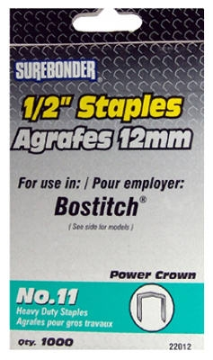 1000-Pack #11 Heavy-Duty 1/2-Inch Staple