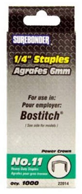1000-Pack #11 Heavy-Duty 1/4-Inch Staple