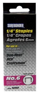 1000-Pack #6 Heavy-Duty 1/4-Inch Staple
