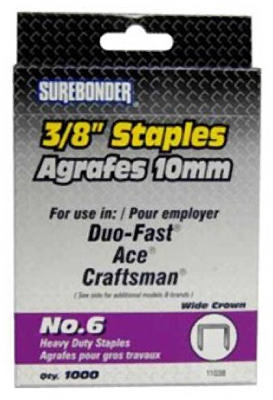 1000-Pack #6 Heavy-Duty 3/8-Inch Staple