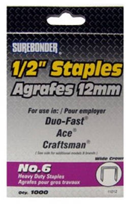 1000-Pack #6 Heavy-Duty 1/2-Inch Staple