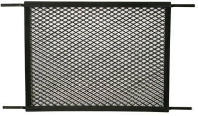 Storm & Screen Door Grille, Black Plastic