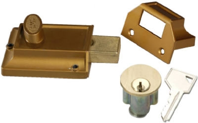 Brass Night Bolt 5-Pin Tumbler Locking Cylinder