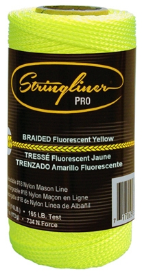250-Ft. Braided Fluorescent Yellow Nylon Construction Line