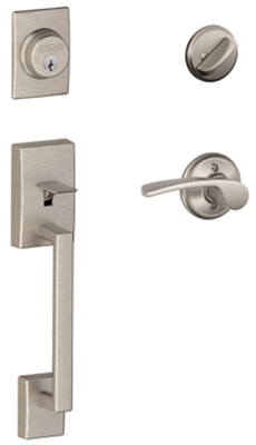 Century Handleset, Single Cylinder, Satin Nickel