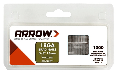 Brad Nail for Electric Nail Gun, Brown, 5/8-In., 1000-Pk.